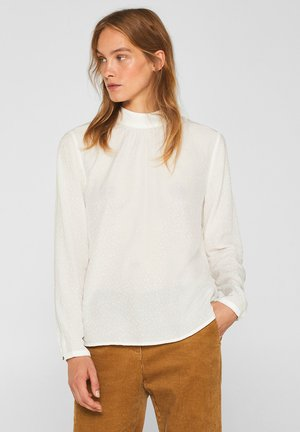 MIT JACQUARD-MUSTER - Blouse - off white