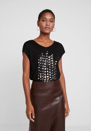 VALENTINE - T-shirt z nadrukiem - black