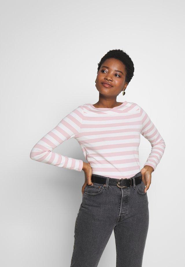 STRIPE - Bluzka z długim rękawem - old pink