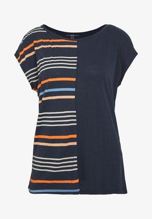 TONAL MOASIC - Print T-shirt - navy