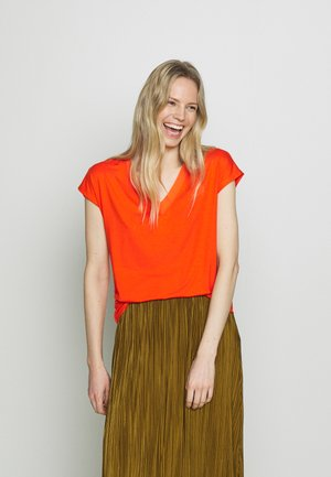 Basic T-shirt - red orange