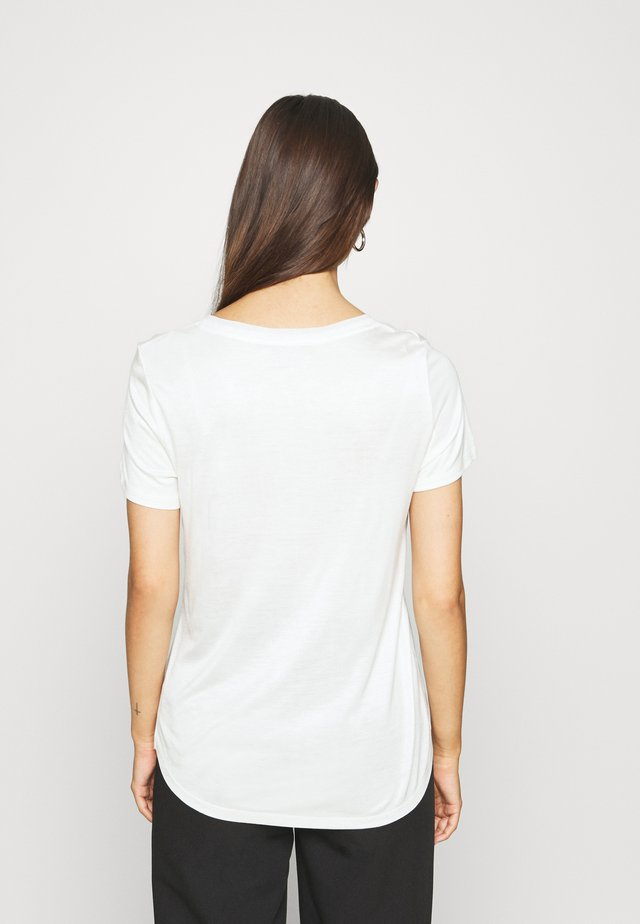 V NECK  - Camiseta básica - off white