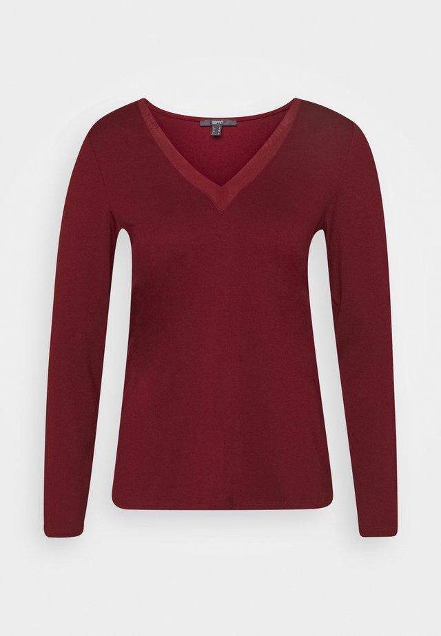 Camiseta de manga larga - bordeaux red