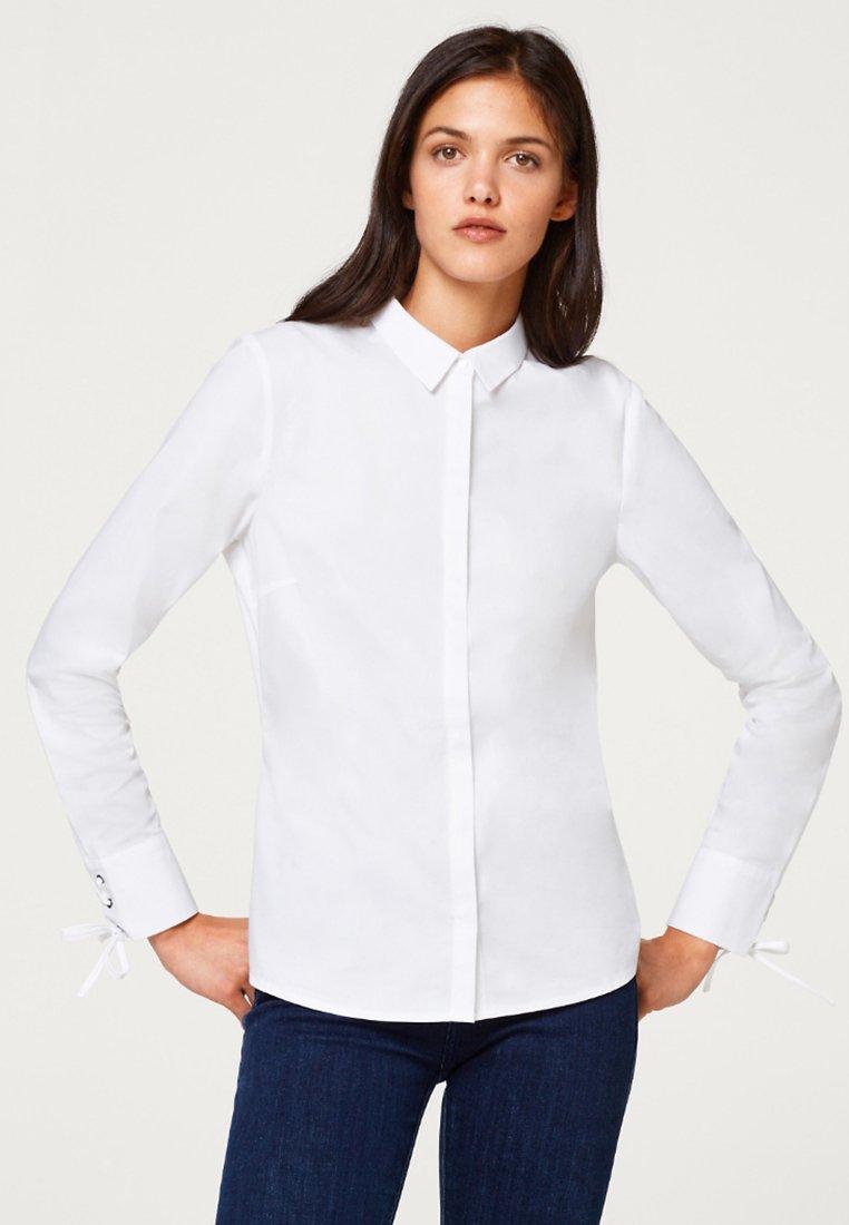 Esprit Collection - MIT SCHLEIFEN-DETAILS - Chemisier - white