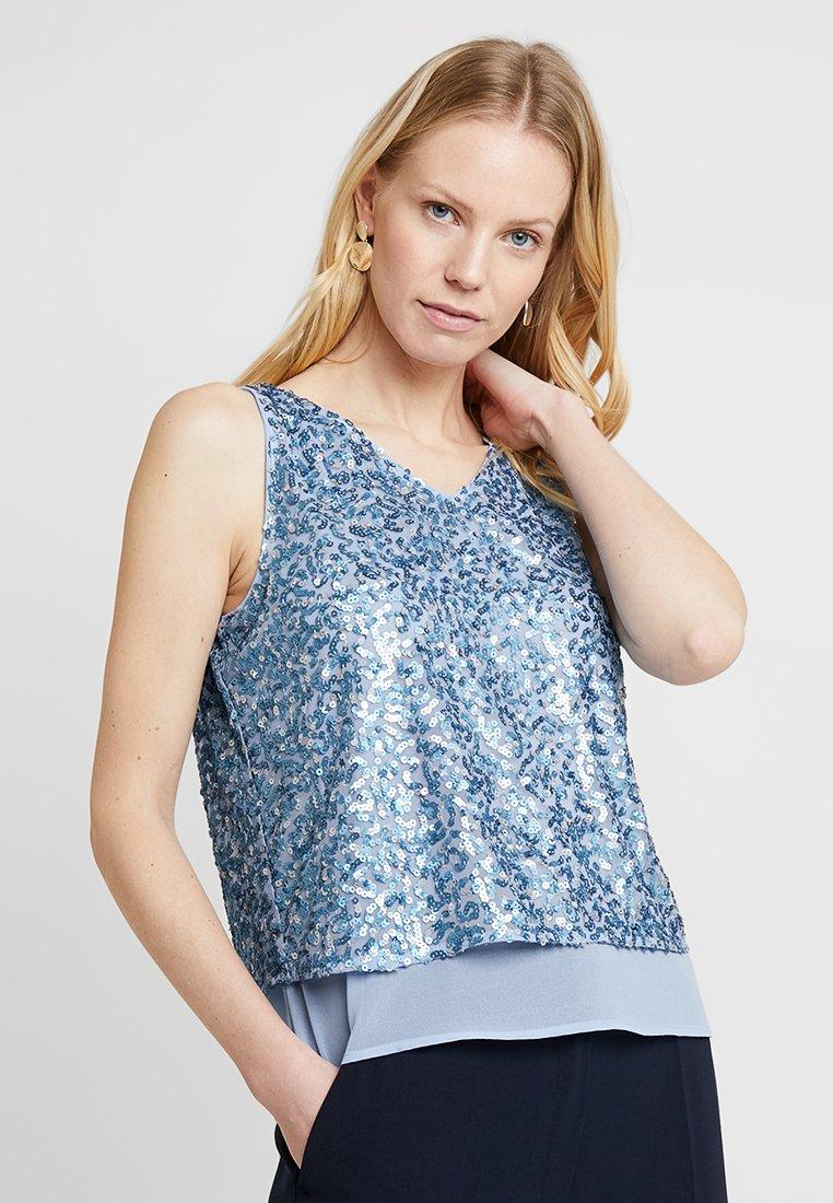 Esprit Collection - MATT SQUIGGLE - Blouse - pastel blue