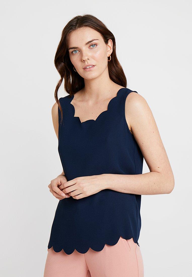 Esprit Collection - MATTSHINY - Bluse - navy