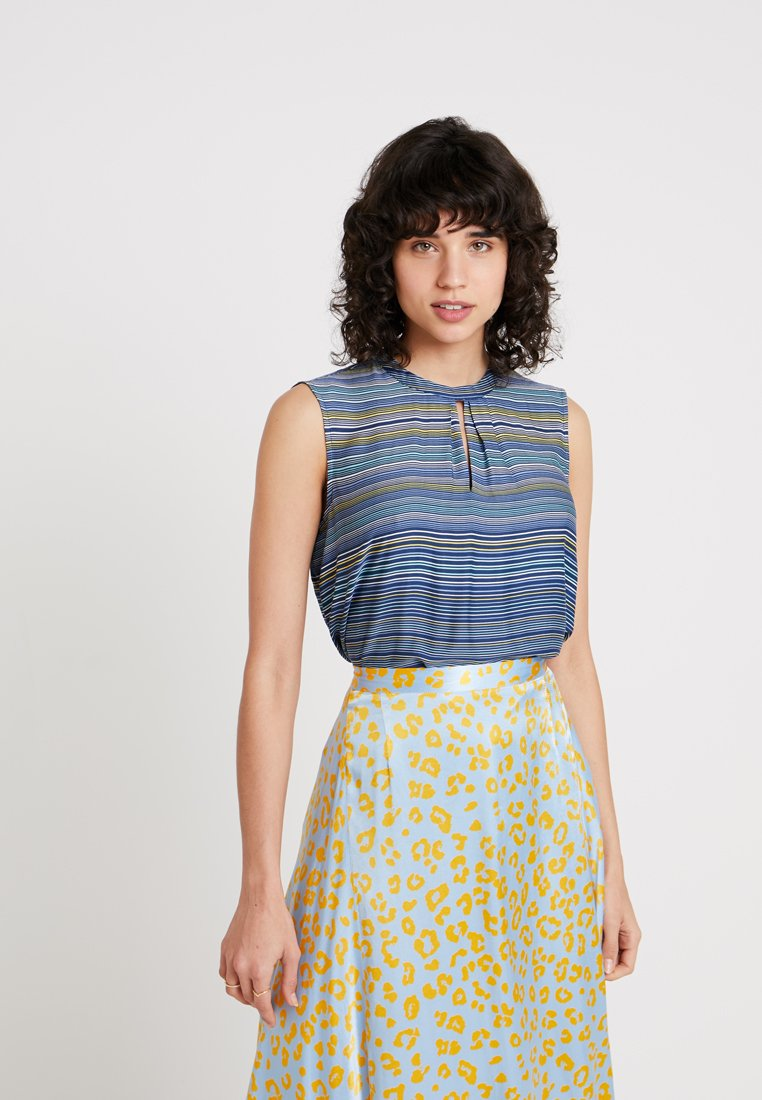 Esprit Collection - FLOATY SHINE - Bluse - navy