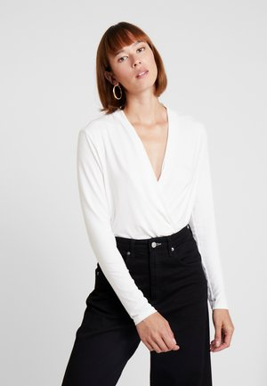 WRAP - Long sleeved top - off white