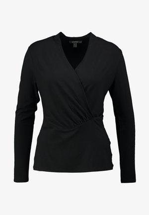 WRAP - Long sleeved top - black