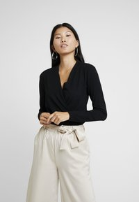 Esprit Collection - WRAP - Long sleeved top - black - 0