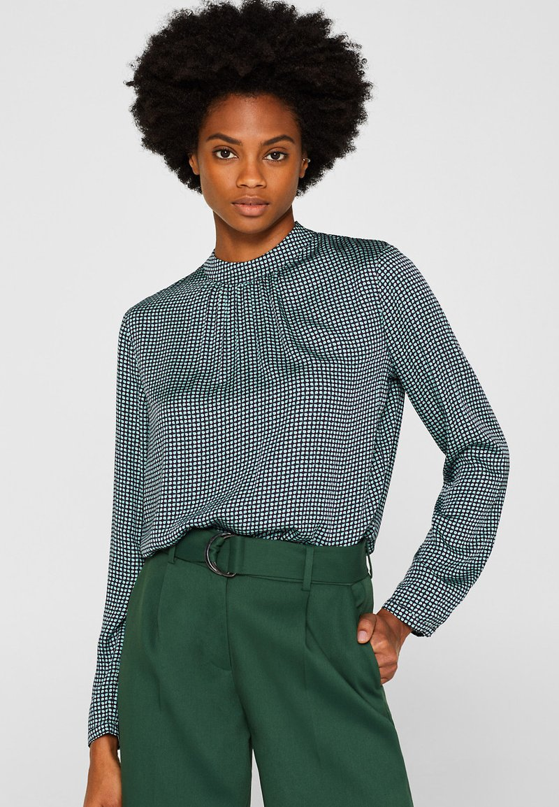 Esprit Collection - SHINY - Bluse - dusty green