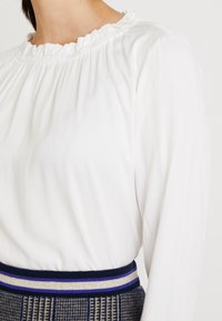 Esprit Collection - RUFFLE NECK - Blouse - off white - 4