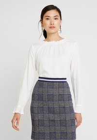 Esprit Collection - RUFFLE NECK - Blouse - off white - 0