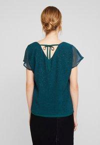 Esprit Collection - SOFT GLITTER - Bluse - dark teal green - 2