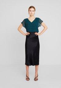 Esprit Collection - SOFT GLITTER - Bluse - dark teal green - 1