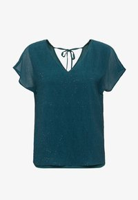 Esprit Collection - SOFT GLITTER - Bluse - dark teal green - 3