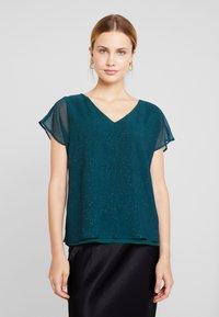 Esprit Collection - SOFT GLITTER - Bluse - dark teal green - 0