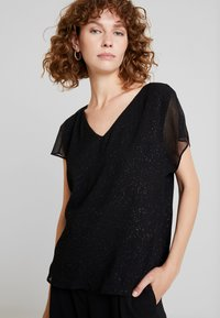 Esprit Collection - SOFT GLITTER - Blouse - black - 0