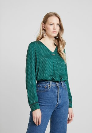 BLOUSE - Blouse - bottle green