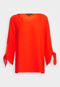 Esprit Collection - MATT SHINY - Bluse - red orange - 0