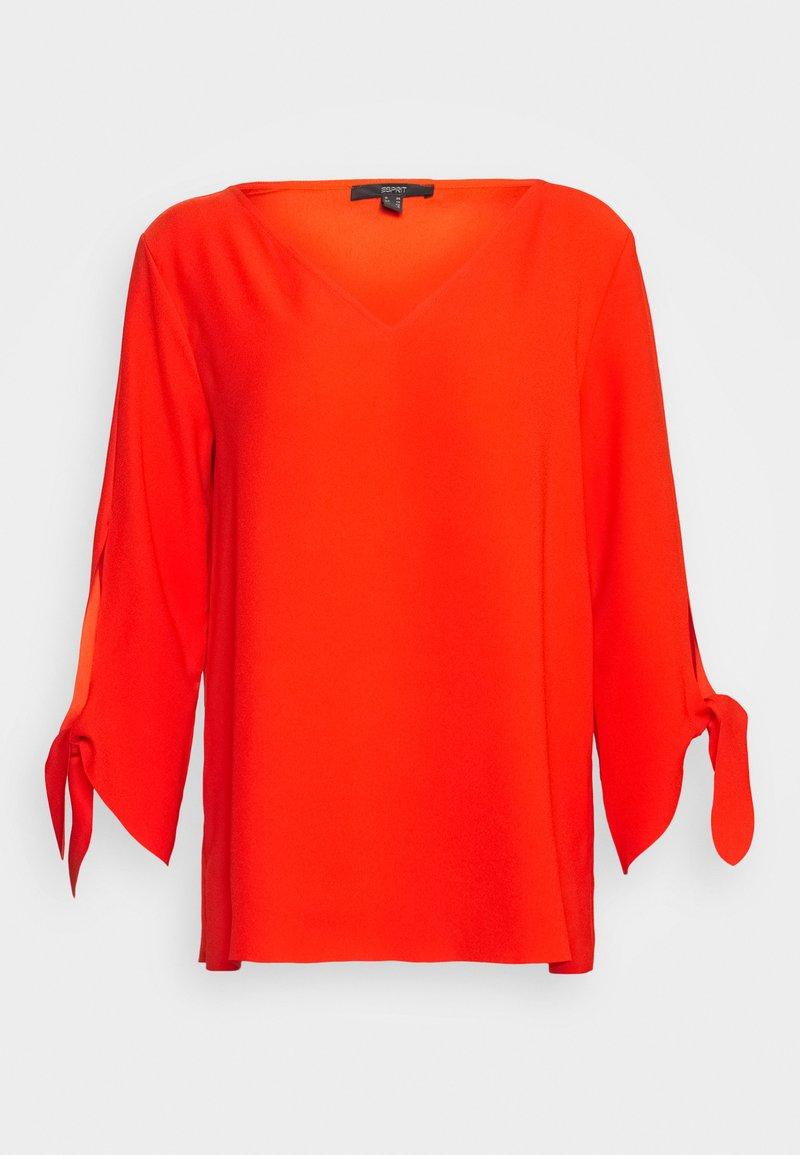 Esprit Collection - MATT SHINY - Bluse - red orange