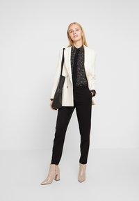 Esprit Collection - COLLAR BOW - Košile - black - 1