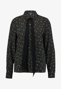 Esprit Collection - COLLAR BOW - Košile - black - 4