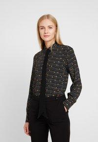 Esprit Collection - COLLAR BOW - Košile - black - 0