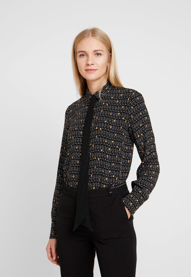 Esprit Collection - COLLAR BOW - Košile - black