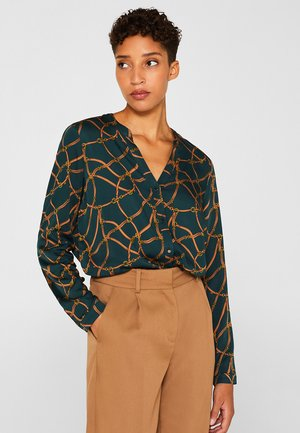 MIT TRENSEN-PRINT - Blouse - dark teal green