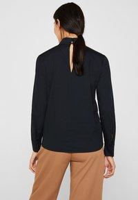 Esprit Collection - MIT STEHKRAGEN - Bluser - black - 2