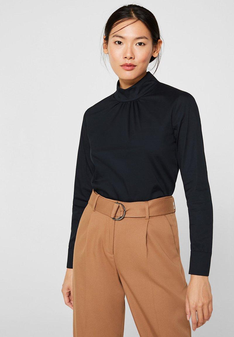 Esprit Collection - MIT STEHKRAGEN - Bluser - black