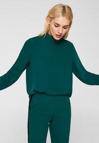Esprit Collection - MIT ROLLKRAGEN - Blouse - bottle green - 0