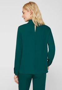 Esprit Collection - MIT ROLLKRAGEN - Blouse - bottle green - 2