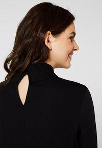Esprit Collection - MIT ROLLKRAGEN - Blouse - black - 4