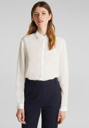 IM BASIC-LOOK - Button-down blouse - off white
