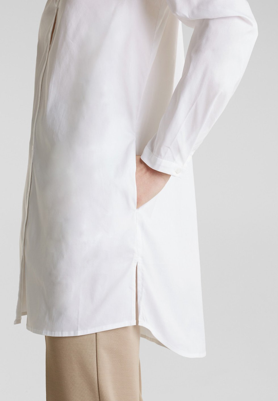 Esprit Collection Long-bluse Mit Henley-ausschnitt - Blouse White