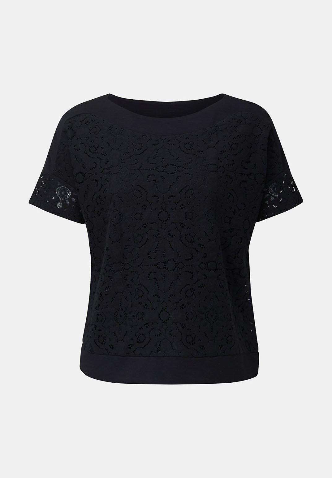 Esprit Collection Blusentop Aus Floraler Spitze - Bluser Black