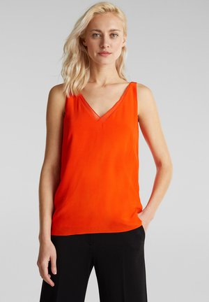 BLUSENTOP AUS LENZING™ ECOVERO™ - Bluse - red orange