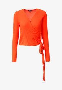 Esprit Collection - IN WICKEL-OPTIK - Long sleeved top - red orange - 5