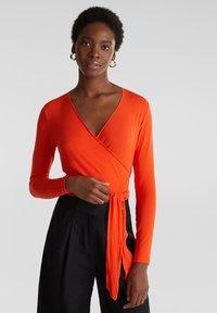 Esprit Collection - IN WICKEL-OPTIK - Long sleeved top - red orange - 0