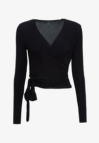 Esprit Collection - IN WICKEL-OPTIK - Long sleeved top - black - 5
