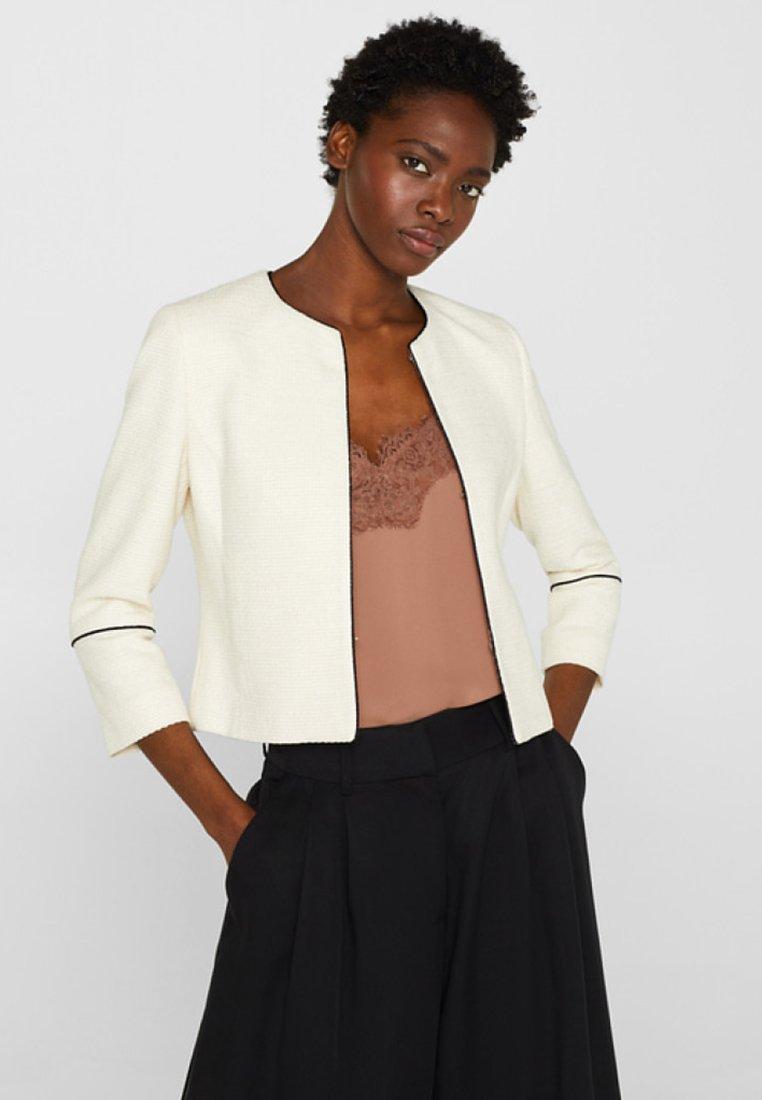 Esprit Collection - MIT PASPELIERUNGEN - Blazer - off white