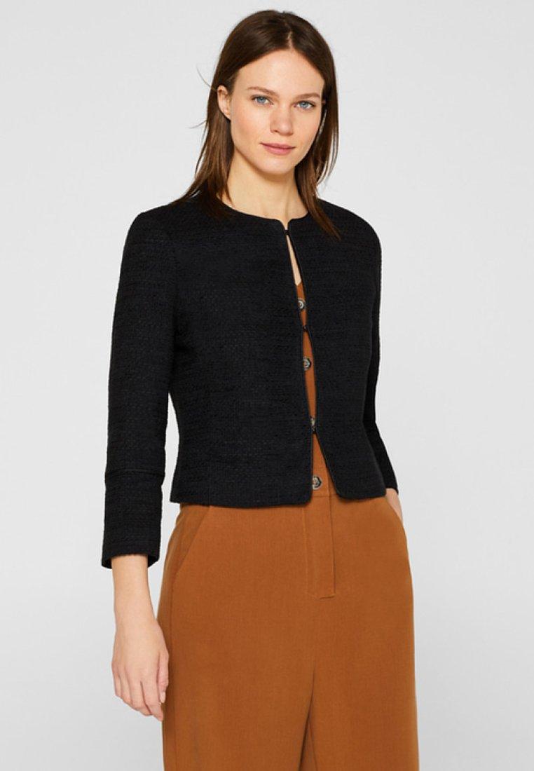 Esprit Collection - MIT PASPELIERUNGEN - Blazer - black