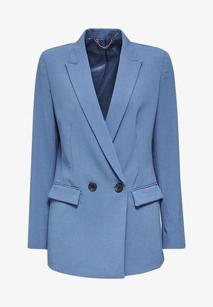Halflange jas - grey blue