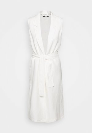 LONG VEST - Veste - off white