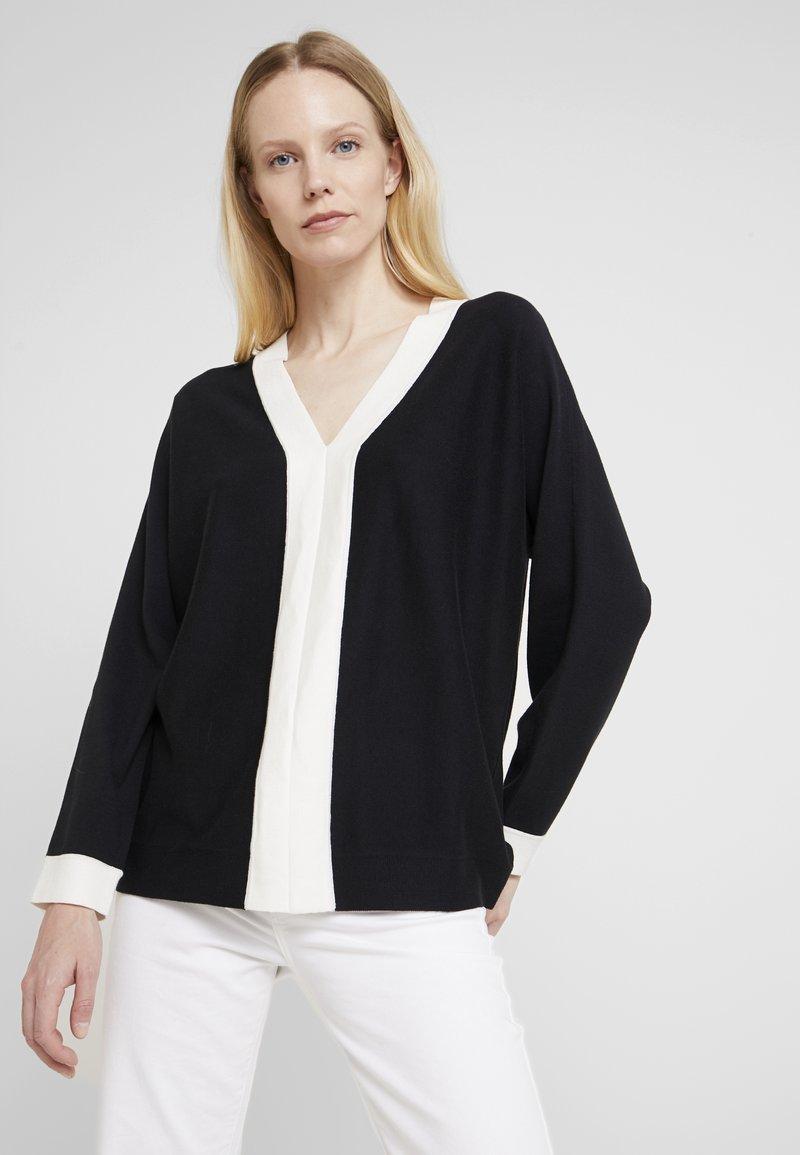 Esprit Collection - STRIPED  - Strickpullover - black