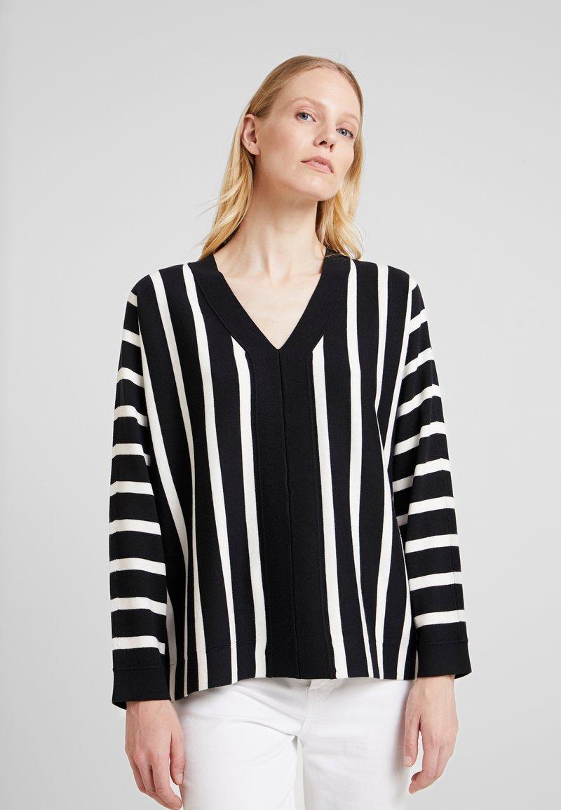 Esprit Collection - STRIPED  - Pullover - black