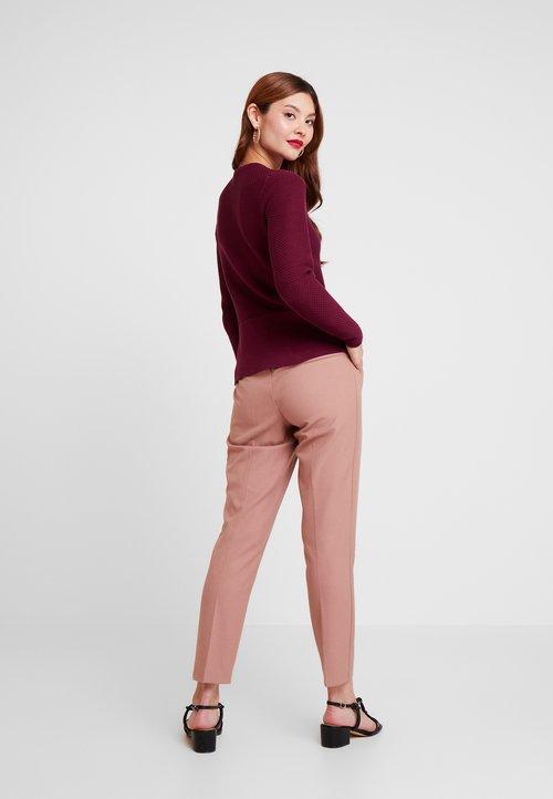 Darmowa dostawa Esprit Collection CARDI - Kardigan - garnet red Odzież Damska KAVU-AK1