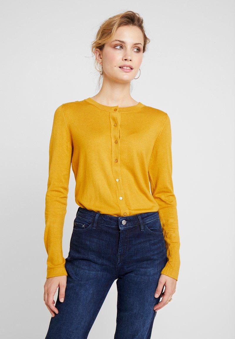 Esprit Collection - ECO CARDI - Cardigan - amber yellow